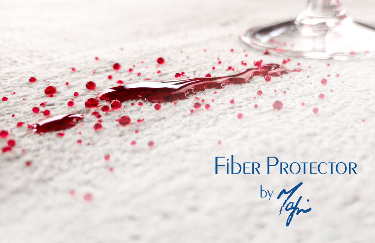 Fiber Protector by Mafi even protects from wine spills.