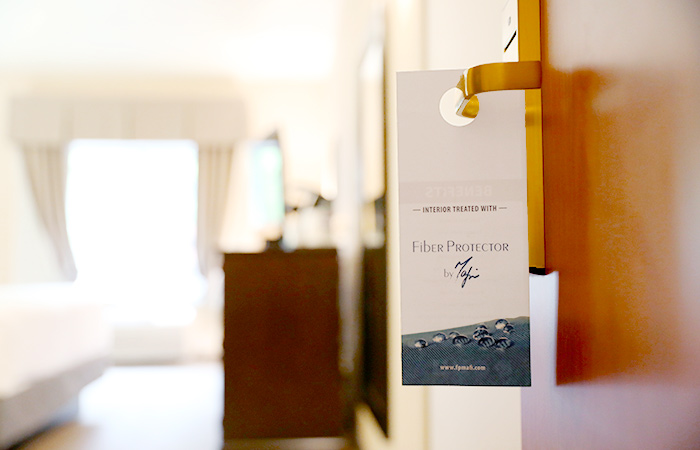 Fiber Protector by Mafi used to sterilize and protect a hotel room